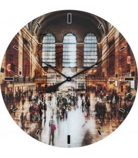 Reloj pared Glas Grand Central Ø80cm