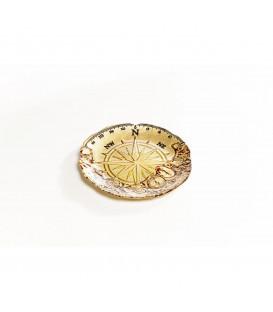 Plato Compass dorado Ø21cm
