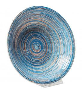 Plato Hondo Swirl azul Ø21cm