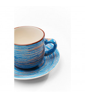 Taza café Swirl azul (2/set)
