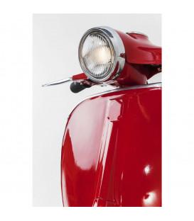 Iluminación pared Scooter rojo grande