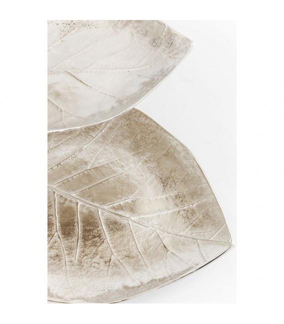 Decoración Estante Leaf plata