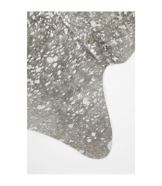 Alfombra Hide Acid Wash plata