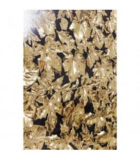 Marco decorativo dorado leaf 120x120cm