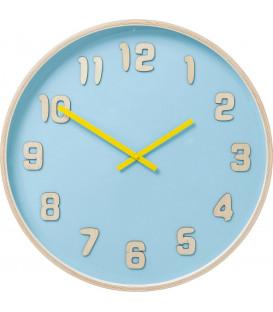 Reloj pared Nature Colore azul claro