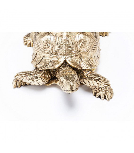 Figura decorativa Turtle dorado Small