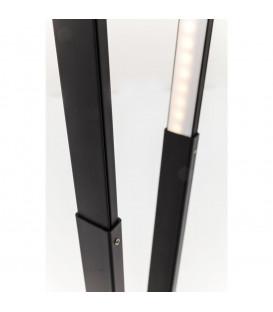 Lámpara pie Triangle negro LED