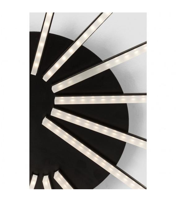 Lámpara de pared Radiation negro LED