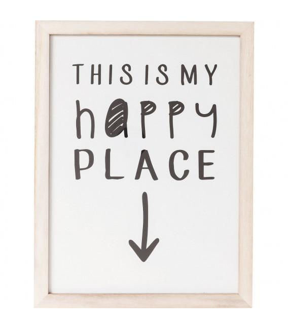 Cuadro My Happy Place 50x38cm