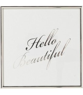 Cuadro Hello Beautiful 27x27cm