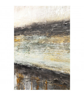 Cuadro Abstract gris Line One 150x120cm