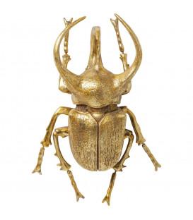 Decoración pared Atlas Beetle oro