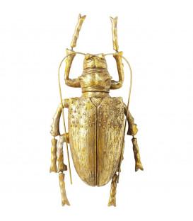 Decoración pared Longicorn Beetle oro
