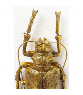 Decoración pared Longicorn Beetle oro