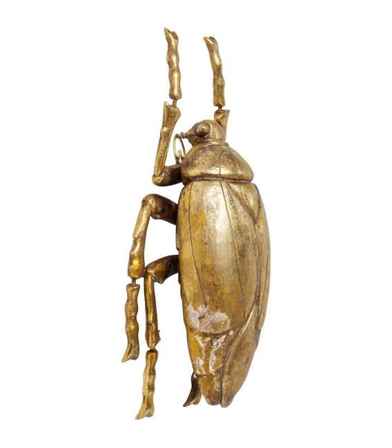 Decoración pared Plant Beetle dorado