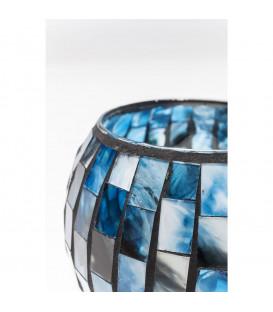 Portavelas Mosaico azul 10cm