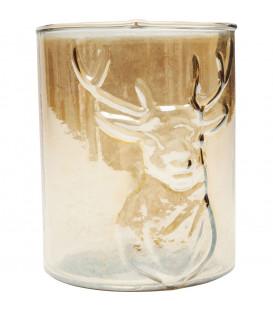 Portavelas Deer ámbar