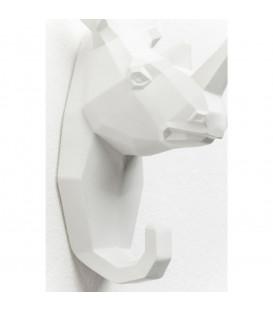 Perchero pared Rhino blanco