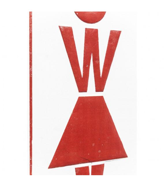 Cartel decorativo Toilet Women