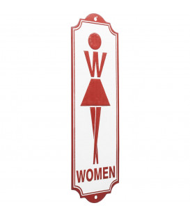 Cartel decorativo Toilet Women