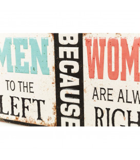 Cartel decorativo Men Because Women