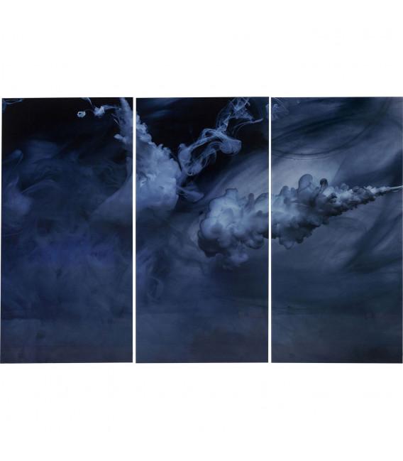 Cuadro cristal Tríptico Clouds 160x240cm (3/Set)