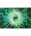 Cuadro cristal Time Travel verde 100x150cm