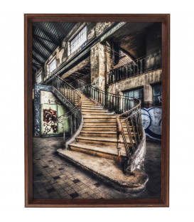 Cuadro marco Old Staircase 80x60cm