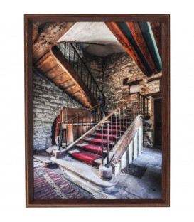Cuadro marco Old Staircase Red Carpet 80x60cm
