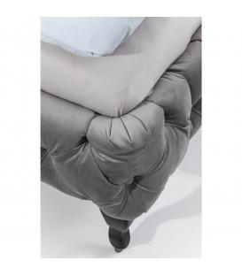 Cama Desire gris plata 200x200 cm