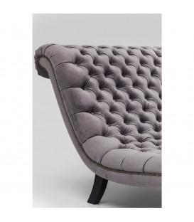 Tumbona Desire Velvet gris plata 115cm