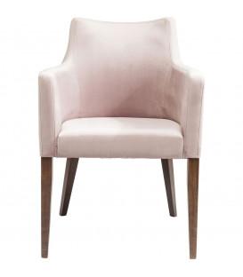 Silla reposabrazos Mode Velvet rosa