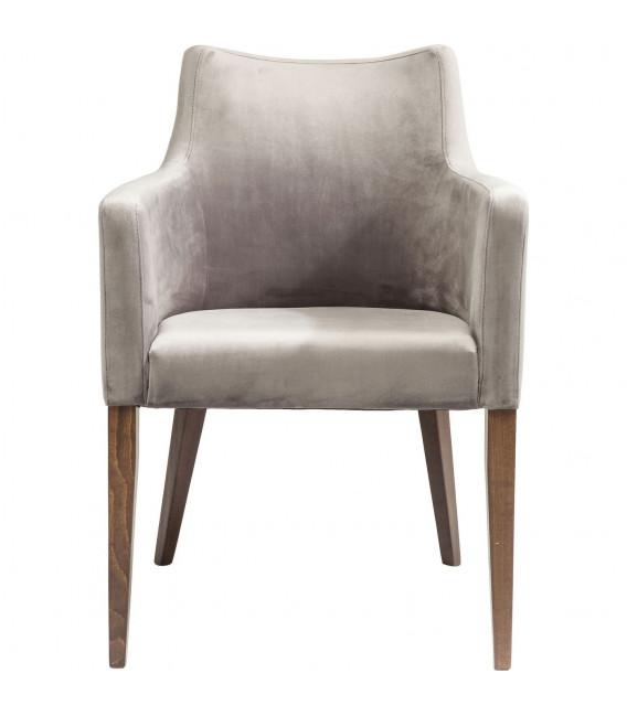 Silla reposabrazos Mode Velvet gris