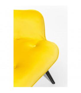 Butaca Vicky Velvet amarillo