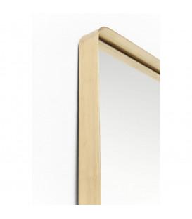Espejo Curve Rectangular Brass 200x70