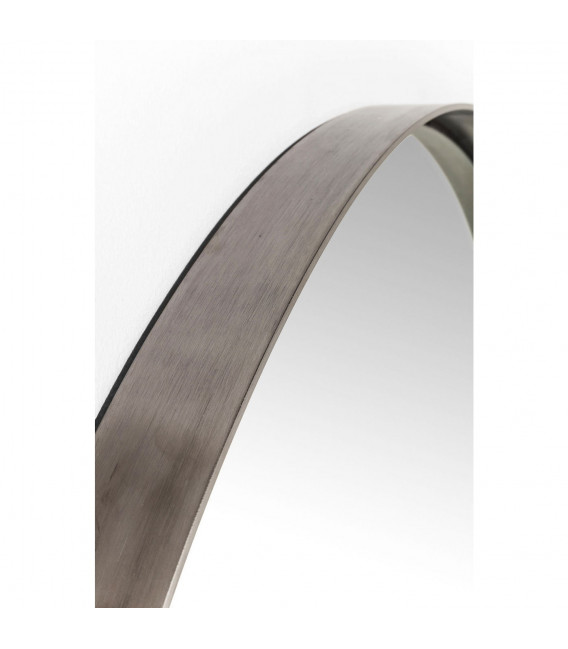 Espejo Curve Round Steel Nature Ø100cm