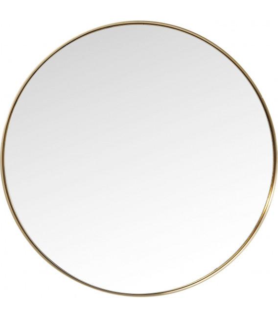 Espejo Curve Round Brass Ø100cm