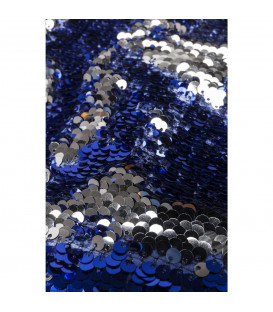 Taburete Disco Queen azul-plata 45x45cm