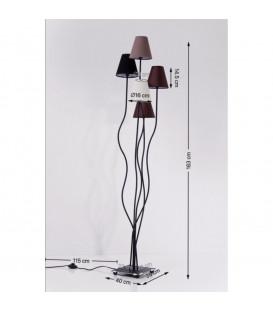 Lámpara de pie Flexible Mocca Cinque