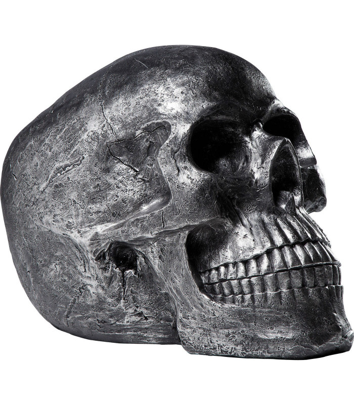 Objeto decorativo Cráneo plata Antique -Kare Design